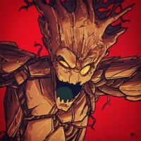 War-face Wednesday: Groot by AndrewKwan
