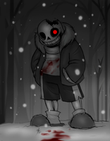 Horrortale Sans by Inverted-Mind-Inc