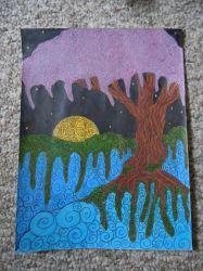 tree on a sea by Elizabeth-Cook
