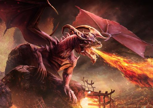 Azymor the Red Dragon by guilherme-batista