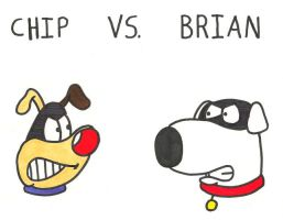 Chip vs. Brian by saxguygb