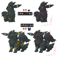 Pokemon Fusion Photoshop~Umbnine and Umblithe~ by Xbox-DS-Gameboy