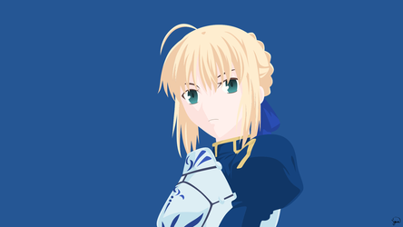 Saber {Fate/Stay Night} Vector by greenmapple17