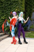 Amecon 2012 Morrigan and Lillith by Mangamad