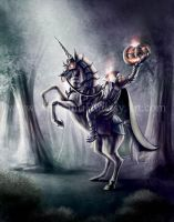 Headless Horseman on a Unicorn by Yarkspiri