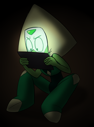 Peridot's late night research by MetaLatias5