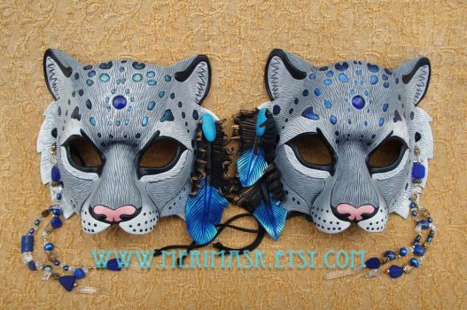 Mountain Spirit: Snow Leopard Masks by merimask