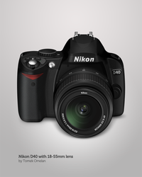 Nikon D40 with 18-55mm lens by tomeqq