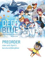 Deep Blue Free! Illustration fanbook Preorder by gem2niki