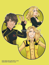 Yellow Rangers by hielorei