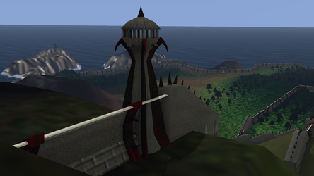 Watchtowers (from within South Wall) by LordKaizen