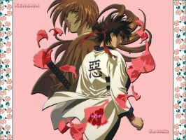 Kenshin and Sanosuke by Kuchiki-Jeff