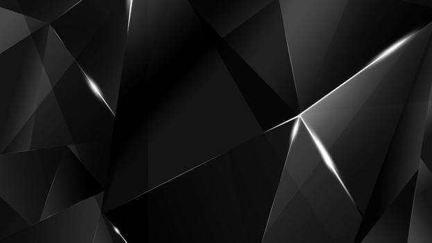 Wallpapers - White Abstract Polygons (Black BG) by kaminohunter