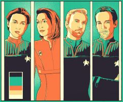Senior Officers DS9 by Dahkur