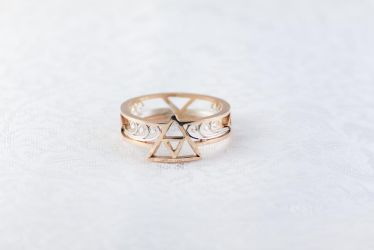 14k Gold Triforce Ring by TheRiceHatSamurai
