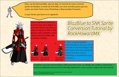 TUTORIAL: Converting BlazBlue Sprites to SNK Style by RockHowardMX