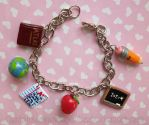 Teacher Charm Bracelet - commission by CantankerousCupcake