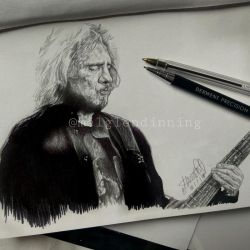 Sketch - Geezer Butler (18/07/18) by RallyTheWicked