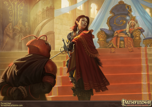 Pathfinder - Heroes of the Highcourt Illustration by ForrestImel