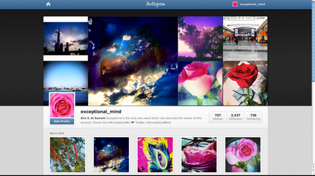 My Instagram's account by Exceptional-Mind