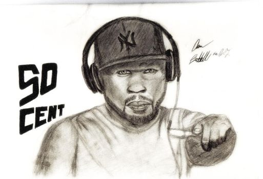 50 cent illustration by aaron8385
