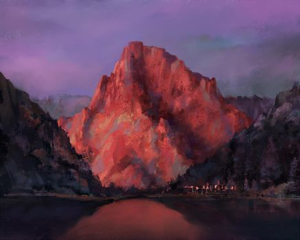 red mountain by piglizard47