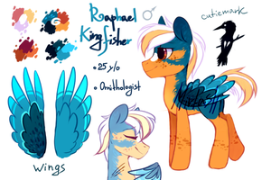 Raphael Kingfisher MLP adoptable [Closed] by MirtaSH