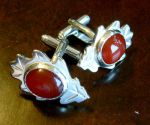 Autumn Leaf Cufflinks by fairyfrog