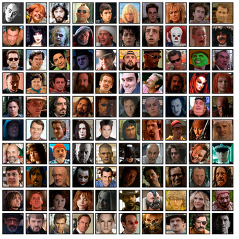 100 Favourites Characters Movies and TV by Migeru-D