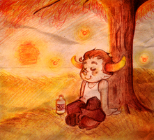 Peaceful little Tavros by OpticBlast00
