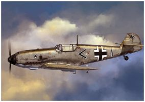 Messerschmitt Bf 109 E3 by dugazm