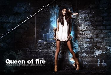 Queen of Fire -Wallpaper pack. by Uribaani