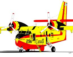 Canadair CL-215 Scooper by bowdenja