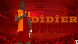 Drogba Vector Wallpaper Work by ANILDD11