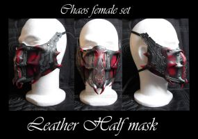 Chaos female armor half mask by Deakath