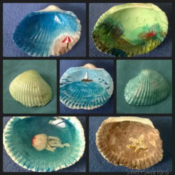 Painted Shell Collage by SpookyCandyTheater