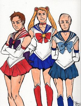 Sailor Trio Part Two by My-Little-Nightmare
