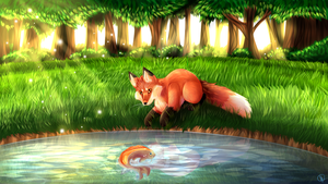 Summertime Pond by IndisCoffee