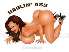 Haulin' Ass Bomber Girl Nina Mercedez by Chuck-Bauman