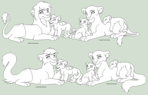 Lion Big Cat Family Base By Kainaa