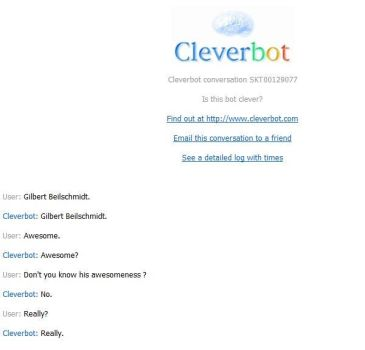 Cleverbot is not awesome by Technae