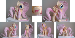 5th Plushie - Fluttershy V2.0 :D by moggymawee