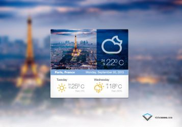 Weather Widget Free PSD by victorsosea