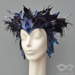 Custom Leather Headpiece by Beadmask