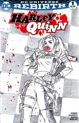 Harley Quinn Sketch Cover by DrewEdwardJohnson