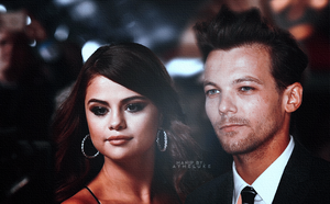 selena gomez and louis tomlinson by exoyeol