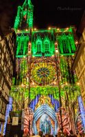 Strasbourg Cathedral - Colorful Lights 2 by Cloudwhisperer67
