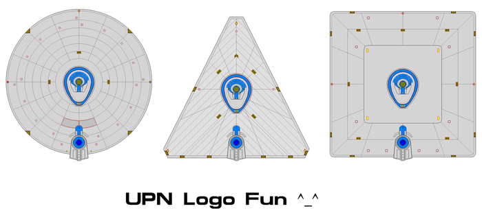 Fun with Saucers and the defunct UPN logo by kaisernathan1701