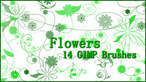 GIMP Flower Brushes by Illyera