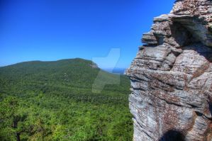 Moore's Knob from Hanging Rock by Mooseushi